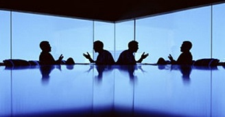 Trustees in a meeting